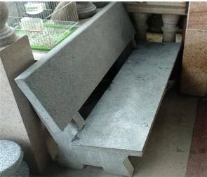 CG-A1-S35有靠背长条石凳石凳户外庭院公园长条花岗岩石椅石凳子靠背椅石条凳别墅家用广场