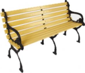 CG-X5873塑钢休闲椅户外休闲公园小区实木靠背长椅塑钢座椅园林室外休息实木平椅
