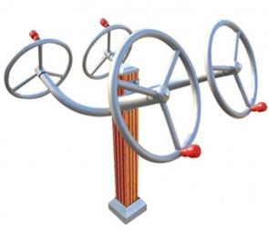 CG-X8595-C12室外健身器材太极轮肩关节训练器广场小区塑木揉推器户外健身路径