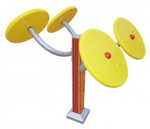CG-X8595-C20室外健身器材太极轮肩关节训练器广场小区塑木揉推器户外健身路径