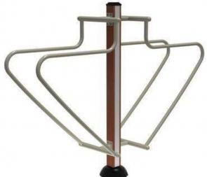 CG-X7085-C29新款小区学校公园广场高强度耐塑木单柱双杠运动室外健身器材